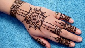 Patterns Depicting The Jewels mehndi design