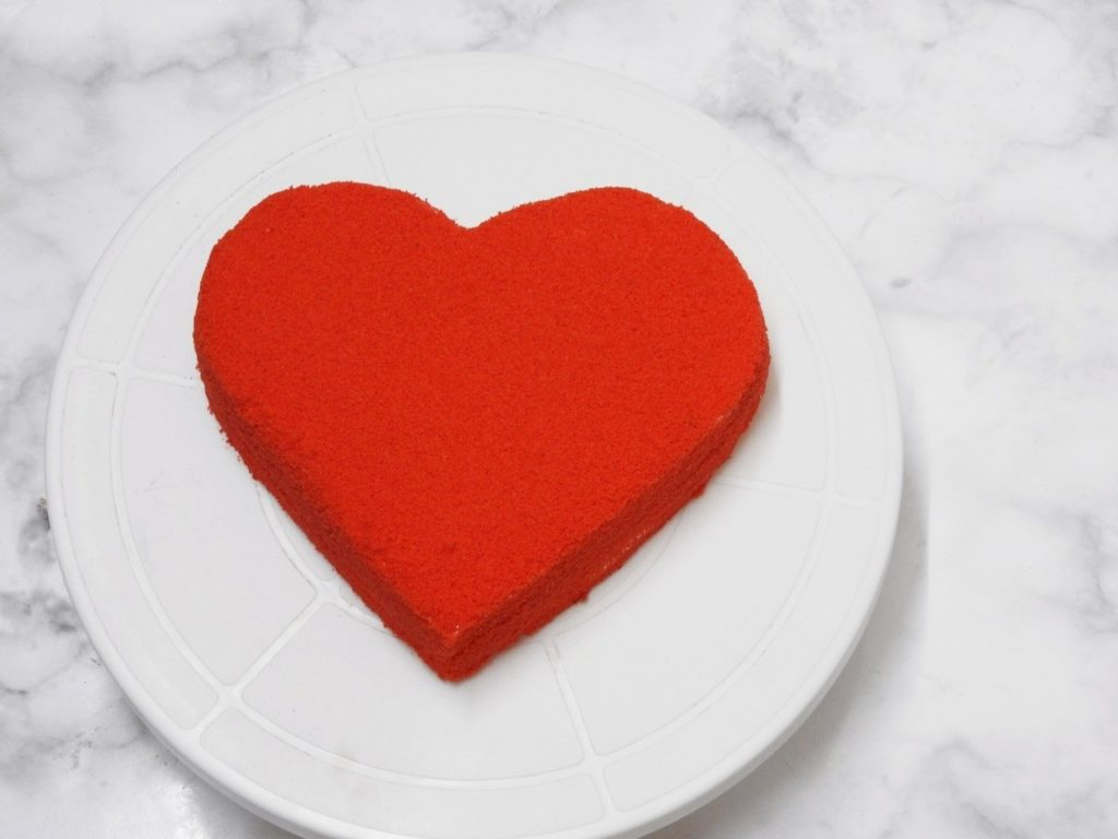 Heart Shape Red Velvet Cake