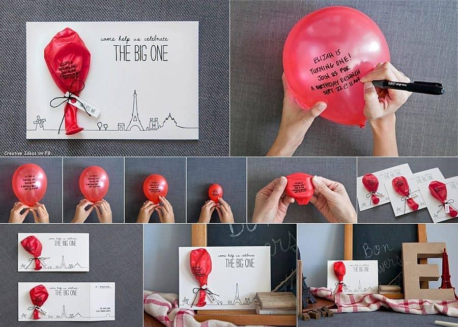 Secret Message on balloons