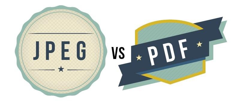 JPEG vs PDF
